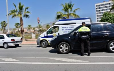 Civil Guard and Local Police of El Campello coordinate to prevent access to the municipality of vehicles from towns with perimeter closure